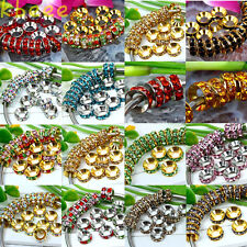 Wholesale Lots 10mm European Big Hole Spacer Beads Fit Charm Bracelets Findings