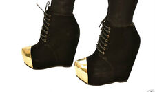 WOMENS LADIES WEDGE ANKLE BOOTS HEELS SIZE TRAINERS SHOES WINTER SUEDE STYLE