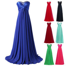2016 Sexy Beaded Long Wedding Evening Prom Bridesmaid Dress Ball Gown PLUS SIZE