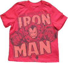 NEW MARVEL THE AVENGERS IRON MAN *Invincible* IRONMAN TOP T-SHIRT 3T 4T 5T