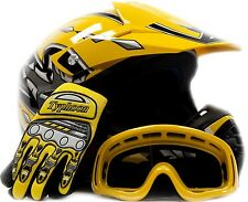 Kids Motocross Youth ATV Helmet, Gloves and Goggles Motorcycle DOT