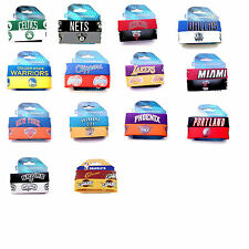 NBA RUBBER WRIST FAN BAND SET 2 PACK DESIGNS BRACELET SILICONE PICK YOUR TEAM
