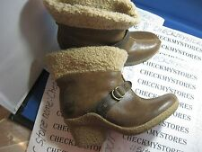 NEW Timberland Tan Bayden Ankle Boot Leather Boots Buckle Pull On 17669M