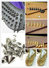 10mm Metal Punk Studs Spikes Leathercraft Bag Belt Clothes Rivet Craft Decor DIY