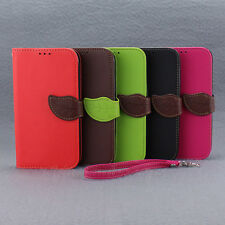Leather Flip Money Wallet Stand Case Cover For Samsung Galaxy Note 2 II N7100