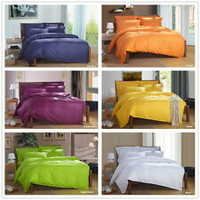 Solid Queen/Double/King Size Quilt Duvet Doona Cover Set Bed Cover Pillowcases