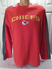 "01BB MENS NFL Apparel KANSAS CITY CHIEFS ""SEWN"" Pullover FLEECE Jersey Shirt"