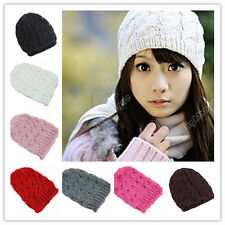 Womens Warm Winter Knit Crochet Christmas  Ski Cap Beanie Beret Hat 014