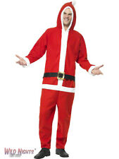 """FANCY DRESS COSTUME # ADULT CHRISTMAS SANTA ONESIE ALL IN ONE SIZES 34""""-44"""""""