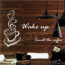 Big Coffee Sign Window Wall Art Sticker Decal Fashion Decoration Cafe Kitchen