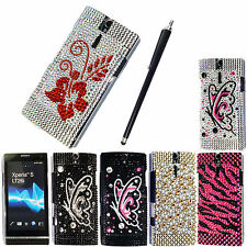 FOR SONY XPERIA S LT26i NOZOMI DIAMOND HARD SHELL PHONE SKIN CASE COVER + STYLUS