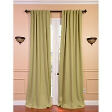 Blackout Thermal Lichen Green Curtain Panels (Set of 2)