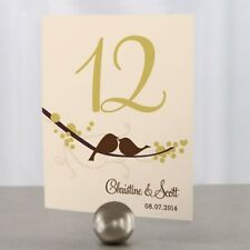 Personalized Love Bird Wedding Table Numbers