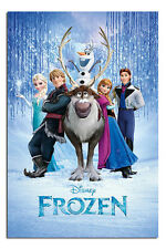Frozen Disney Movie Cast Large Wall Poster New - Laminated Available