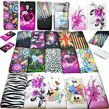 Hot Hard Flower Back Skin Plastic Phone Protective Cover Case For HTC Desire 700