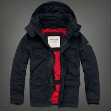 NWT Abercrombie & Fitch Mens 2014 Adams Mountain Hooded Jacket Coat Parka - M