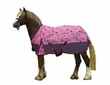 Derby Shimmering Star Turnout Blankets 600D 250G Polyfill Mini and Pony Size
