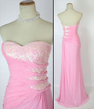 FAVIANA 7167 Pink Evening Prom Party Gown Dress $400 NWT-Available Size 4,8,10