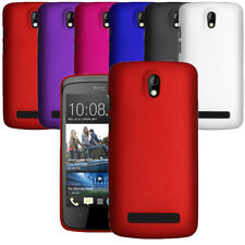 For HTC Desire 500 Hybrid Plastic Hard Case Slim Phone Cover & Screen Protector