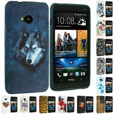 Color Design TPU Soft Rubber Skin Case Cover Accessory for HTC One M7 Phone