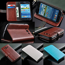 Leather Phone Case Skin Cover Stand For Samsung Galaxy Grand DUOS i9082