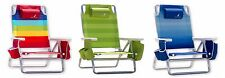 Nautica Lightweight 5 Position Beach Chair w/ Insulated Cooler Multiple Colors!!