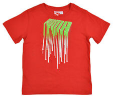 Puma Boys S/S Red & Green Top Size 4 5 6 7 $20