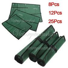 8/12/25 Pocket Roll-Up Pouch Canvas Spanner Wrench Tool Storage Bag Box Case New