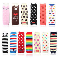 Hot Baby Kids Knee Pads Socks Toddler Boy Girls Arm Leg Warmers Legging Stocking