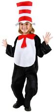 Child Kids Cartoon Book Dr. Seuss Cat in the Hat Bodysuit with Tail Costume