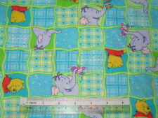 Choose design size* Winnie the Pooh Tigger Eeyore Piglet cotton quilting fabric