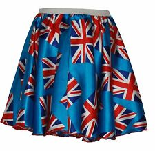 Adults Great Britain Union Jack Skater Skirt British Flag Roller Girl
