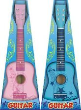 "NEW 23"" CHILDRENS PINK OR BLUE ACOUSTIC GUITAR MUSICAL GIFTS TOYS GAMES"