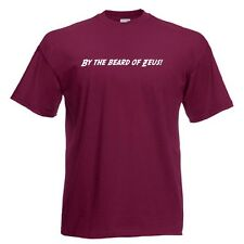 BY THE BEARD OF ZEUS! Anchorman Quote Standard Fit Burgundy T-Shirt in ALL SIZES