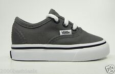 VANS AUTHENTIC PEWTER BLACK INFANT TODDLER SIZE SHOES FOR BOYS STYLE VN-0JXIPBQ