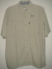NWT MEN UNDER ARMOUR ALL SEASON UPF 30+ FLATS GUIDE II SS SHIRT SELECT SIZE$60