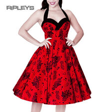 HELL BUNNY Red/Black 50s VANESSA DRESS Wonderland/Vintage All Sizes