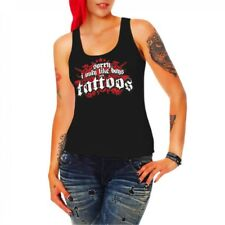Girl Girls Träger Top Sorry Boys i only like with tattoos tattoo ink trägershirt