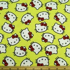 Hello Kitty Lime Green Toss 160cm Wide Cotton Spandex Jersey