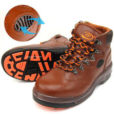 New Mens Safety Work Boots Steel Toe Cap Ventilation Brown color