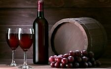Two Wine Glasses Red Bottle Rustic Theme Unique Poster  PERSONALIZE FREE