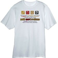 Math Word Problems Funny Novelty T-Shirt  Z13607