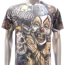 m115 Minute Mirth T-shirt CLASSIC STYLE Vtg Hard Rock Skull Joker Graffiti Punk