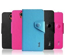 IMAK Cross Leather Flip Wallet Cover For Alcatel One Touch Idol X OT 6040D 6040A