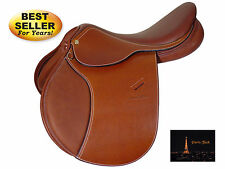 Paris Tack Lafitte Series Close Contact English Saddle Chestnut Select Size