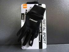 HEAD Digital Sport Running Gloves w/ sensaTEC Touch Screen Black size XS