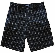 NEW Mens $65 ADIDAS GOLF Black PLAID SHORTS with Stretch & 6 Pockets - PICK SIZE