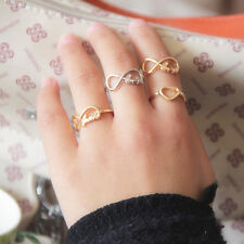 New Charm Fashion Jewelry Silver&Gold Plated Heart Infinity Rings Hot Selling