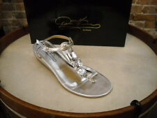 Theme Diane Gilman Silver Jeweled Thong Sandal NEW