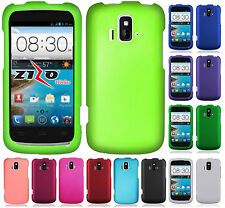 For AT&T GoPhone ZTE Radiant Z740 Rubberized HARD Protector Case Phone Cover